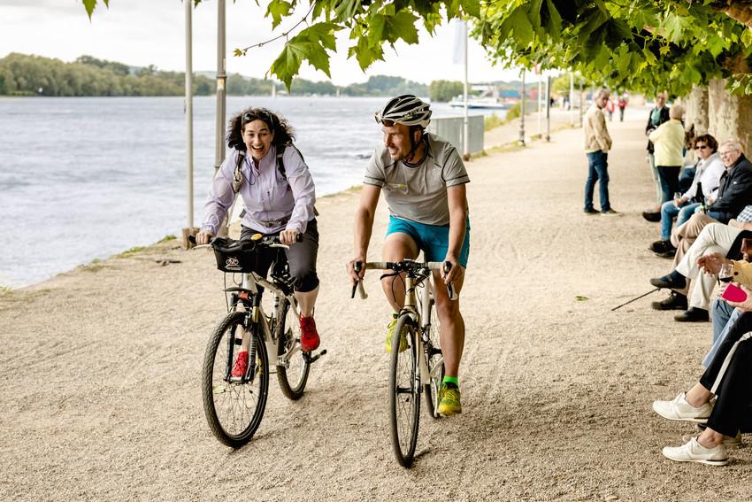 Fahrradfahren im Rheingau
